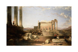 Ruins of the Temple of the Sun at Baalbec, 1861 Giclee Print by David Roberts