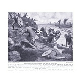 King Ceadwalla Attacking the Isle of Wight Ad686, 1920's Giclee Print by Ernest Prater