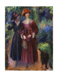 A Stroll in the Park, 1915-1918 Giclee Print by William James Glackens