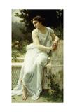 Girl of Pompei in a Garden; Jeune Fille De Pompei Dans Un Jardin Giclee Print by Guillaume Seignac