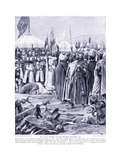 Isaac of Cyprus Pleads before Ricahrd I Ad1191, 1920's Giclee Print by Richard Caton Woodville II