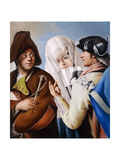 A Gentleman in a Phrygian Bonnet Being Addressed by a Gentleman in a Yellow Coat and Black… Giclee Print by Lorenzo Baldissera Tiepolo