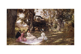 Picnic under the Trees, 1896 Giclee Print by Julius Leblanc Stewart