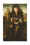 Saint Mary Magdalen Seated on a Grassy Verge in a Mountainous Landscape Giclee Print by Lucas Cranach the Younger