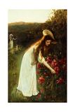Picking Flowers Giclee Print by Albert Lynch