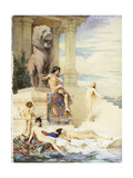 The Ivory Flute: La Flute D'Ivoire, 1876 Giclee Print by Guillaume Dubufe