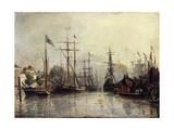 Rotterdam Harbour, 1857 Giclee Print by Johan-Barthold Jongkind