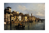 Bernardo Bellotto (1721-1780). The River Arno in Florence, 1742 Giclee Print by Bernardo Bellotto