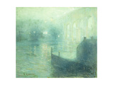 Harlem River at Night Giclee Print by Ernest Lawson