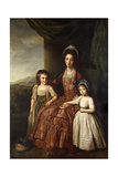 A Group Portrait of Mary, Countess of Darnley and Her Children, Lord Clifton and Lady Mary Bligh,… Giclee Print by Nathaniel Dance-Holland