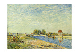 The Canal at Loing; Le Canal Du Loing, 1884 Giclee Print by Alfred Sisley