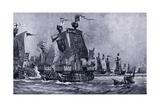 The Battle of Sluys, June Ad1340, 1920's Giclee Print by Charles Daniel Ward