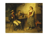 A Conservation in the Tavern, 1891 Giclee Print by Hugo Kauffmann