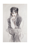 Portrait of a Lady, Possibly Madam Van Cleef (Nee Lopez Penna Hebe) Giclee Print by Paul Cesar Helleu
