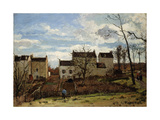 Spring in Pontoise; Printemps a Pontoise, 1872 Giclee Print by Camille Pissarro