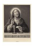 Jesus Giclée-tryk af Carlo Dolci