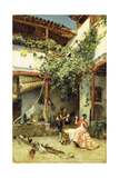 In the Courtyard, 1876 Giclee Print by Ricardo de Madrazo y Garreta
