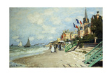 The Beach at Trouville; La Plage a Trouville, 1870 Giclee Print by Claude Monet