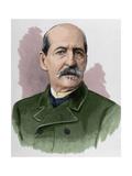 German Hernandez Amores (1823-1894). Spanish Painter. Engraving. Colored Giclee Print by Arturo Carretero y Sánchez