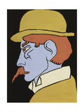 Man with Moustache, Profile, C.1911-12 Giclee Print by Henri Gaudier-brzeska