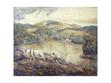Ploughing Giclee Print by Ernest Lawson