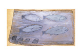 Four Fishes Giclee Print by Alfred Wallis