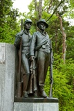 Bronze Figures on the Confederate Memorial on the The Civil War Battlefield at Shiloh in Tennessee Photographic Print