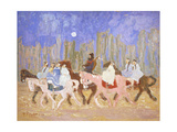 To the Party; a La Fiesta Giclee Print by Pedro Figari