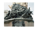 Monument to the Siege of Zaragoza, 1908 by Agustin Querol. Sculpture Depicting a Group of Women,… Giclee Print by Agustin Querol Subirats