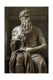 Moses. 1513-1515. Statue by Michelangelo (1475-1564). Marble Giclee Print