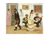 Creole Dancing; Baile Criollo Giclee Print by Pedro Figari
