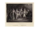 Masqueraders Giclee Print by Francois Louis Joseph Watteau