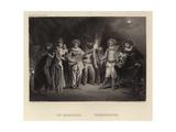 Masqueraders Giclee Print by Francois Louis Joseph Watteau