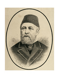 Hussein Sermed Affendi (1830-1886). Turkish Diplomat. Engraving Giclee Print by Arturo Carretero y Sánchez