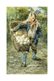 Young Egg Seller Giclee Print by Vicenzo Irolli
