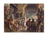 A Turkish Bazaar, 1867 Giclee Print by Amadeo Preziosi
