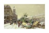 Flower Market; Marche Aux Fleurs Giclee Print by Eugene Galien-Laloue