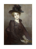 Portrait of a Seated Woman Giclée-Druck von Tony Robert-fleury