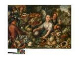 Vegetable Market Giclee Print by Joachim Beuckelaer or Bueckelaer