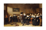 A Group Portrait in an Interior Giclee Print by Anthonie Palamedesz