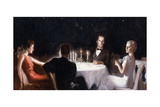Dinner under the Stars Giclee Print by McClelland Barclay