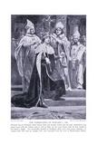 The Coronation of Edward I Ad1274, 1920's Giclee Print by Richard Caton II Woodville