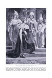 The Coronation of Edward I Ad1274, 1920's Giclee Print by Richard Caton Woodville II