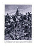 The Last Stand of De Montford at Evesham Ad1265, 1920's Giclee Print by Richard Caton Woodville II