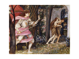 The Expulsion from the Garden of Eden, C.1877 Giclee Print by John Roddam Spencer Stanhope