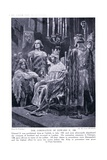 The Coronation of Edward II Ad1308, 1920's Giclee Print by Richard Caton Woodville II