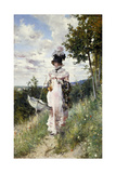 The Summer Stroll, 1873 Giclee Print by Giovanni Boldini