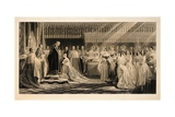 The Coronation of Her Majesty Queen Victoria, in Westminster Abbey, 28th June, 1838, Engraved by… Giclee Print by Edmund Thomas Parris
