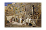 The Wailing Wall, Jerusalem, 1863 Giclee Print by Carl Friedrich Heinrich Werner