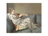 La Sultane Lisant', a Lady in Turkish Costume Reading on a Divan Giclee Print by Jean-Etienne Liotard